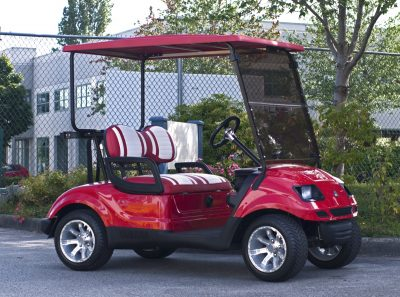 Red AGT Electric Golf Cart for Sale