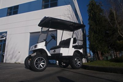 White Electric Golf Cart