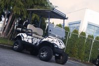 Custom Wrap on Customized Golf Cart