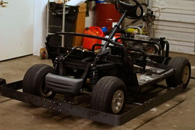 Golf Cart in the shop